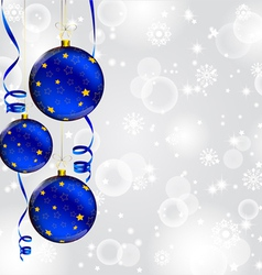 Modern Christmas baubles background vector image