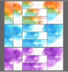 Abstract template design vector image vector image