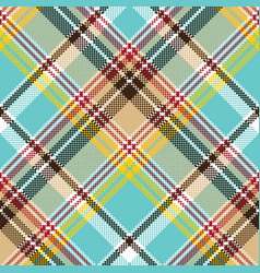blue madras pixel texture color fabric seamless vector image