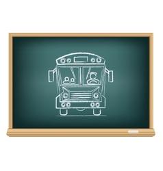 board school bus vector image vector image