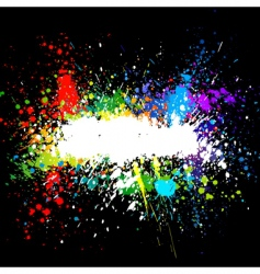 color paint splashes gradient background vector image