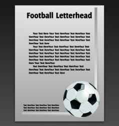 football letterhead vector image vector image
