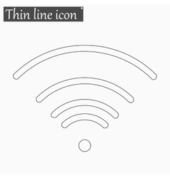 Wi-Fi icon Style thin line vector image