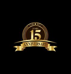 15th years anniversary logo template design vector