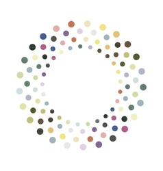Abstract colorful circle design element vector