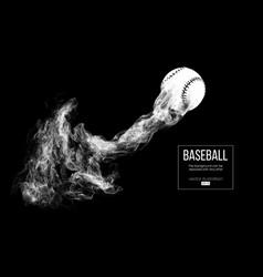 Abstract silhouette a baseball ball vector