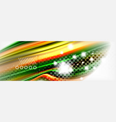 abstract wave lines liquid fluid rainbow style vector image