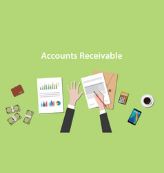 accounts receivable with a man vector image