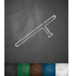 Baton icon vector