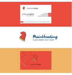 beautiful cock logo and business card vertical vector image