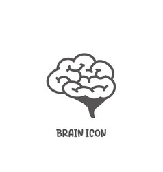 Brain icon simple flat style vector