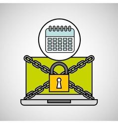 Calendar security internet technology vector