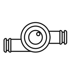 car turbine icon outline style vector image
