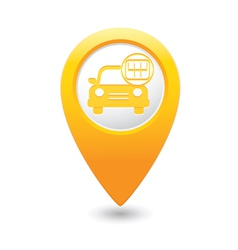 cars transmission MAP pointer yellow vector image