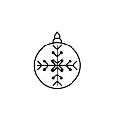 christmas christmas tree toy outline icon element vector image