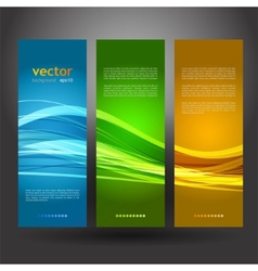 Collection banners modern wave design vector