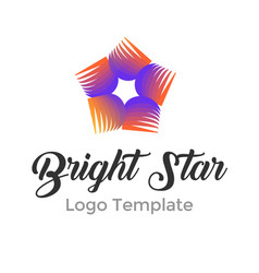 colorful star logo design template modern star vector image vector image