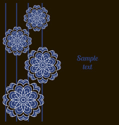 cover oriental-style card mandala floral pattern vector image
