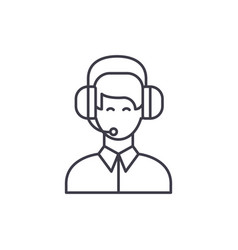 customer support line icon concept customer vector image