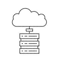 Data base center server cloud computing connection vector