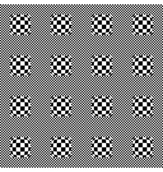 Design seamless monochrome checkered pattern vector