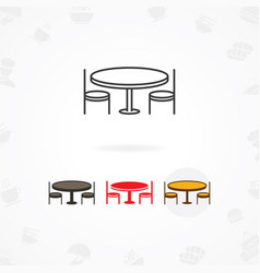 Dining table icon booking dinner icon vector