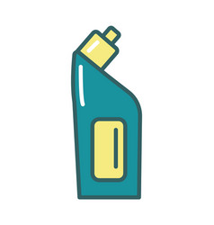 disinfectant plastic bottle product fill style vector image
