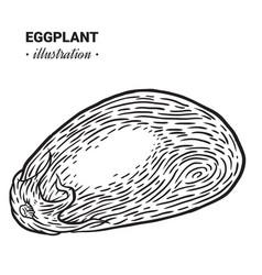 Eggplant fresh food hand drawn vector