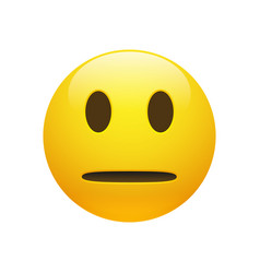 Emoji yellow neutral face vector