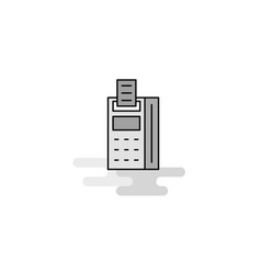 fax machine web icon flat line filled gray icon vector image