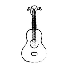 figure acoustic guitar instrument to play vector image