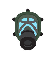 gas mask isolated flat icon vector image