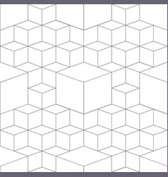 Geometric abstract 3d grid seamless pattern grey vector