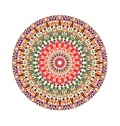 Geometrical abstract circular colorful floral vector