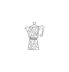 geyser coffee maker line icon coffee pot logo vector image
