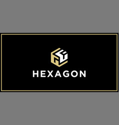 gf hexagon logo design inspiration vector image