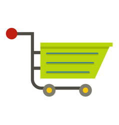 green sale shopping cart icon isolated vector image