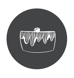 hand drawn fast food sticker blackboard icon with vector image
