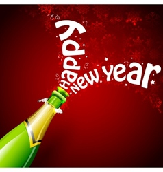 Happy New Year with Champagne vector