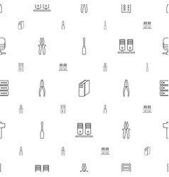 Hardware icons pattern seamless white background vector