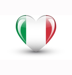 Heart-shaped icon with national flag italy vector