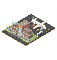 Isometric air logistics concept vector