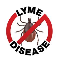 lyme disease tick bite icon vector image