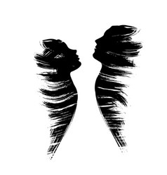 man and woman grunge vector image