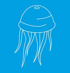 Medusa icon outline style vector