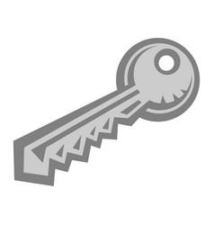 Metal key lock vector