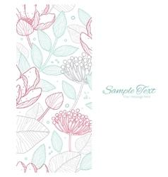 modern line art florals vertical frame vector image