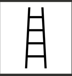 Outline beautiful ladder icon vector
