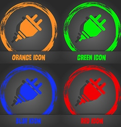 plug icon Fashionable modern style In the orange vector image