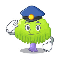 Police isolated weeping willow on the mascot vector